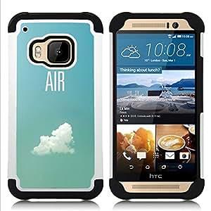 """Pulsar ( Aire Piloto Plano Cielo Nube Verano Azul"""" ) HTC One M9 /M9s / One Hima híbrida Heavy Duty Impact pesado deber de protección a los choques caso Carcasa de parachoques [Ne"""