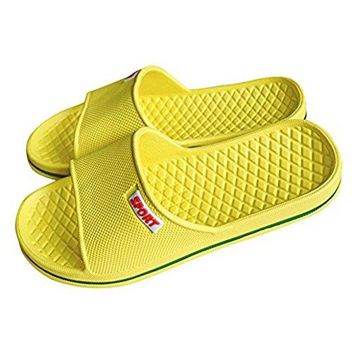 wyhweilong Men/Women Anti-Slip Bathroom Slipper Summer House Slipper Yellow 0fbHwS