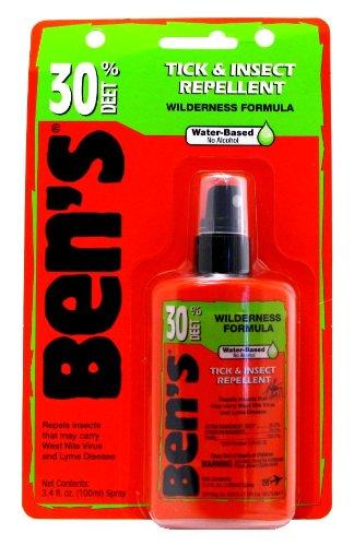 (Ben's Tick & Insect Repellent 30% Deet, Orange, 3.4 Ounce (2 Pack))