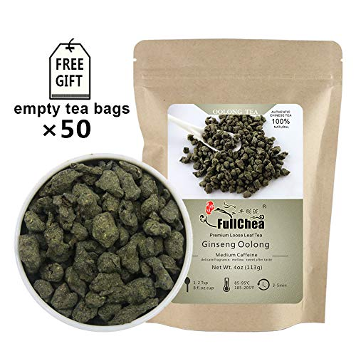 FullChea - Ginseng Oolong Tea - Oolong Tea Loose Leaf - Imperial Ginseng Tea - Natural Lan Gui Ren - Ren Shen with Unique Aroma and Taste 4oz / - Tea Wulong Leaf
