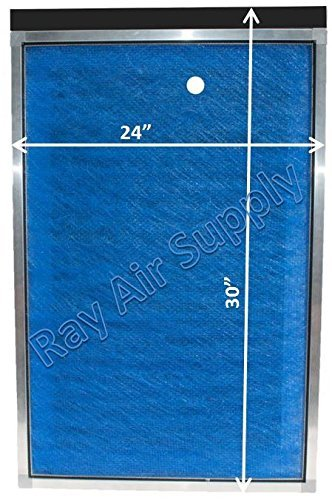 RAYAIR SUPPLY 24x30 Green Homes America Air Cleaner Replacement Filter Pads 24x30 Refills (3 Pack) Blue