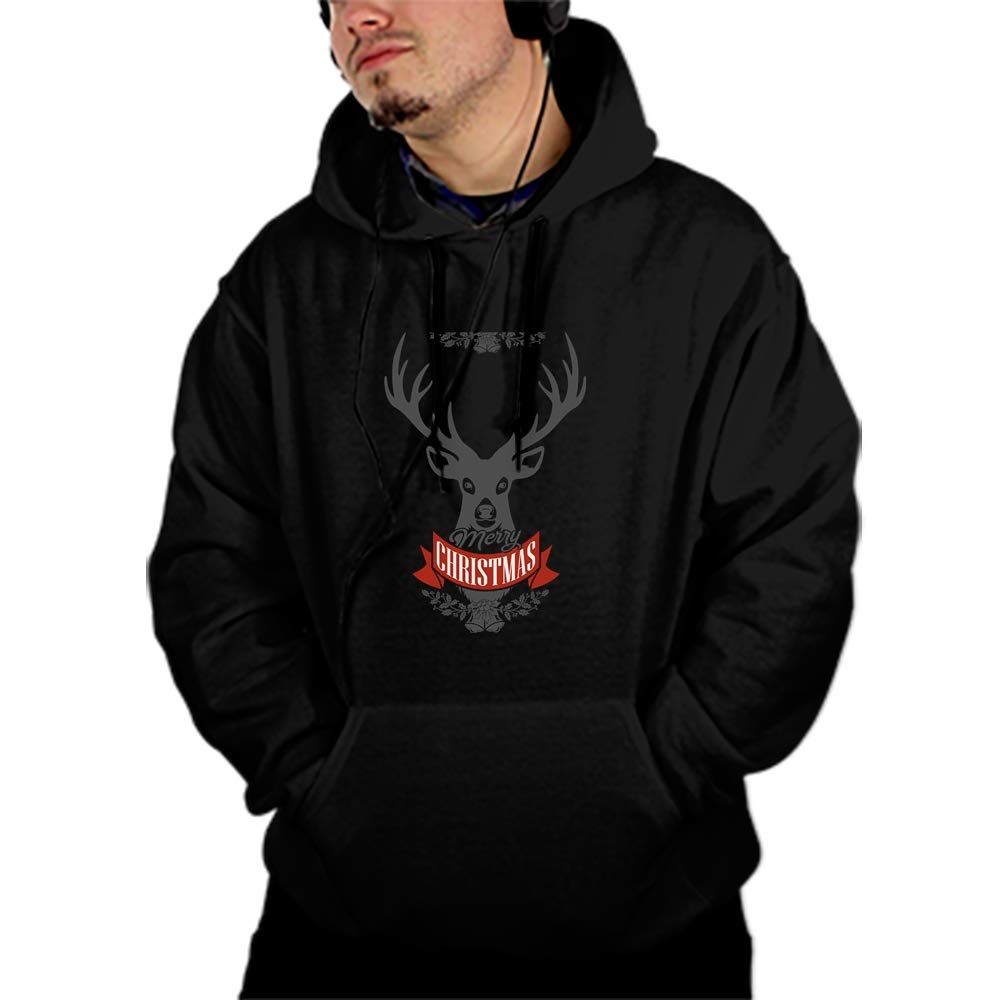 PANGERA Mens Merry Christmas Patterns Print Athletic Sweaters Fashion Hoodies Sweatshirts