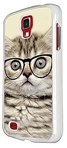 Samsung GALAXY S4 MINI Cool Geek Kitten Cat Reading Sunglasses Funny 40 Design Case Back Cover Hard plastic / Thin Metal