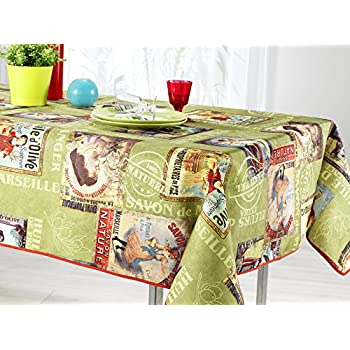 60 X 120 Inch Rectangular Tablecloth Green Olive, Stain Resistant,  Washable, Liquid