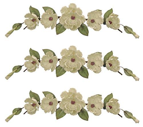 Three 34'' Magnolia Swags Artificial Wedding Arrangement by Arcadia Silk Plantation