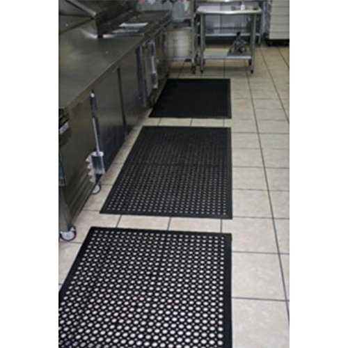HEDY4LESS 3 PACK Cactus Mat 36' x 60' Rubber Restaurant Kitchen Anti Fatigue Slip Floor by