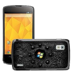 Super Stellar Slim PC Hard Case Cover Skin Armor Shell Protection // M00053093 black windows 2 industrial windows // LG NEXUS 4