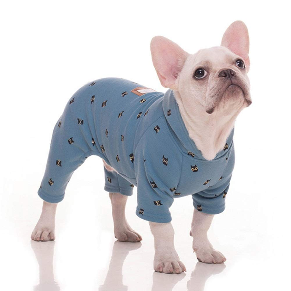 e1dd923a961f Stock Show Pet Clothes Small Dog Four Legs Clothes Bulldog Teddy Autumn  Winter Soft Warm Velvet Pajamas Jumpsuits Cute Owl Printed Shirts Doggie  Apparel ...
