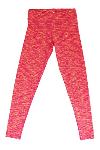 90 Degree by Reflex - Kids Space Dye Yoga Pants - Junior Leggings - Pink Yellow Space Dye Small (Sexy Outfits Online)