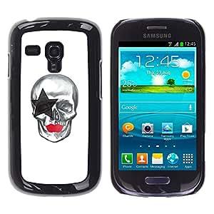 LECELL--Funda protectora / Cubierta / Piel For Samsung Galaxy S3 MINI 8190 -- La estrella del cráneo --