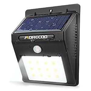 Solar Motion Sensor Lights Morecoo 15 Led Outdoor Bright