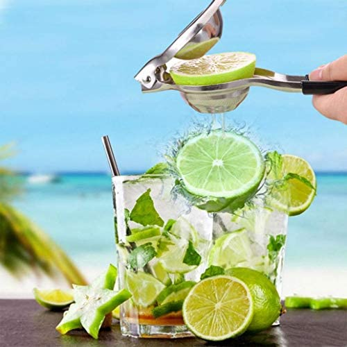 Uticon - Exprimidor manual de limón y frutas para el hogar, antideslizante, color negro