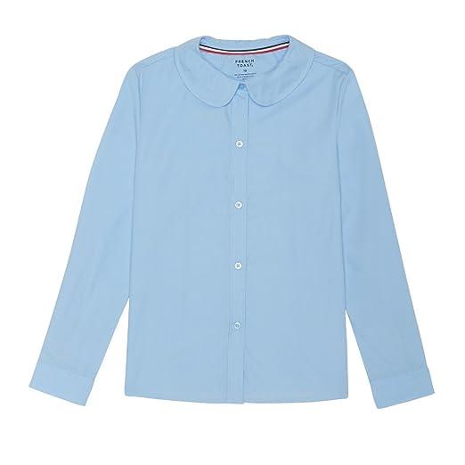 e4668ba10ef Amazon.com  French Toast Girls  Long Sleeve Peter Pan Collar Blouse   Clothing