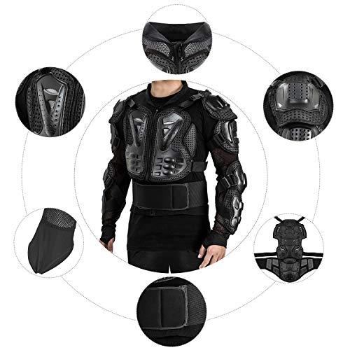 Amazon.fr   Veste Armure Moto Blouson Motard Gilet Protection Équipement de Moto  Cross Scooter VTT Enduro Homme ou Femme (Noir, S) 295f9ef1913e
