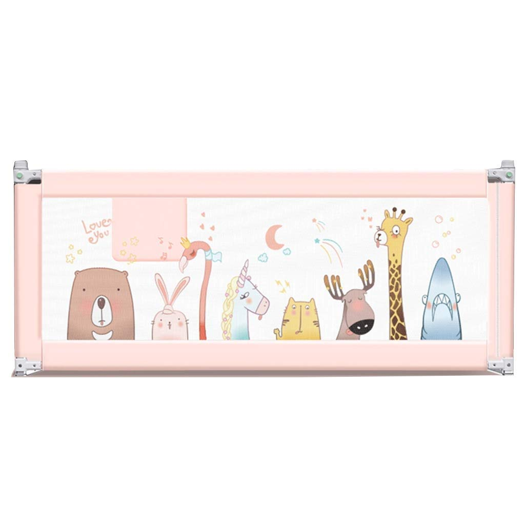 MLX Cartoon Pattern Child Safety Bed Rail with Reinforced Anchoring Safety, Height Adjustable 72~108 cm (Size : 59in(150cm))