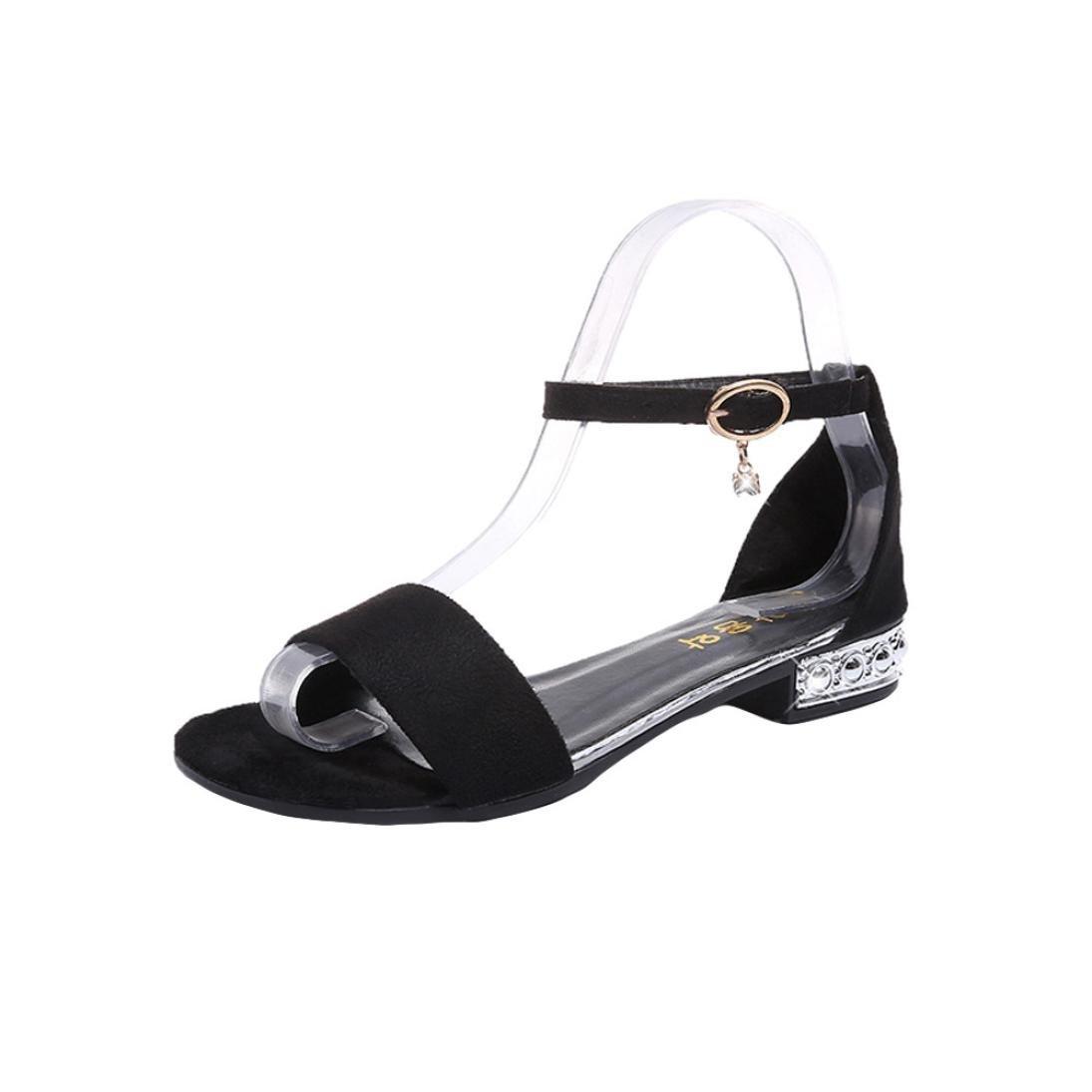 Sandales Femmes, Noir Yesmile Chaussures Femmes Chaussures à Bout Ouvert Ouvert Chaussures Gladiateur Chaussures Flops Sandales Loisirs Noir 6a719c4 - reprogrammed.space