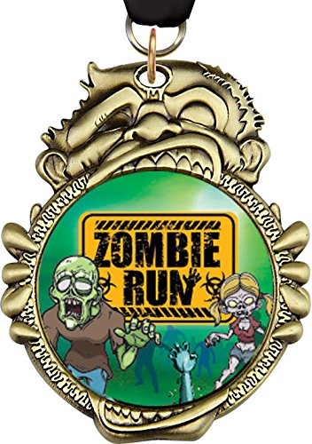 3.25 inch Halloween Zombie Insert Medal (6)
