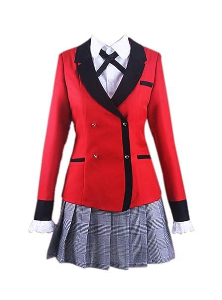 d82887bda76 Amazon.com: ROLECOS Yumeko Jabami Cosplay Costume Kakegurui School ...