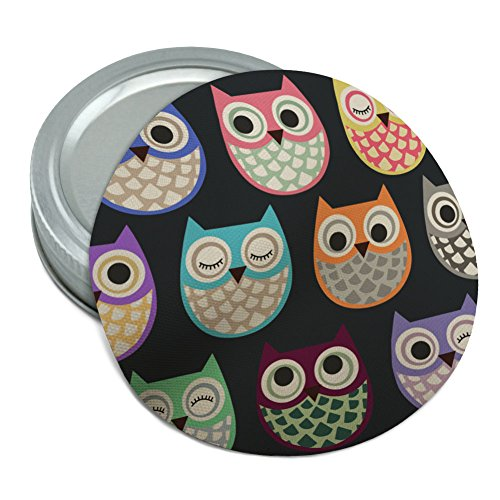 Colorful Owls Cute Pattern Round Rubber Non-Slip Jar Gripper Lid Opener