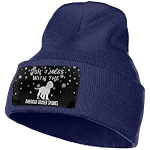 DFKD JKFD Snowing Don't Mess with The American Cocker Spaniel Unisex Skull Caps Knitted Beanie Hat Beanie Cap 1