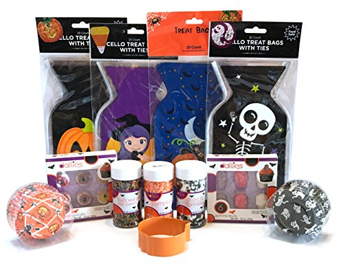Halloween Baking and Treat Kits! Halloween Cupcake Mix, Halloween Cookie Cutters, Halloween Treat Bags - Halloween Party Supplies! (Cupcake & Cookie Decorations - (Halloween Themed Cake Pops)