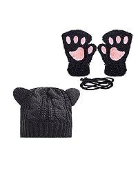 OBO Bands Women's Hat Cat Ear Crochet Braided Knit Caps