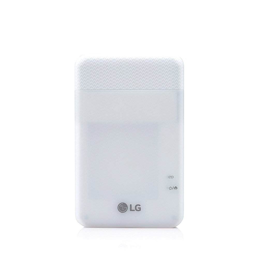 LG Pocket Photo Printer PD261 Portable Mobile Photo Printer with USB Cable For Android, iOS - White