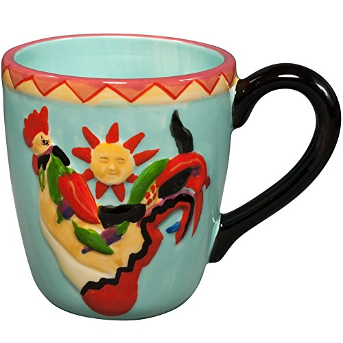 4 Inch Hot Wings Decorated Collectible Rooster 14 Oz Mug Holds - Decorated Collectible Rooster