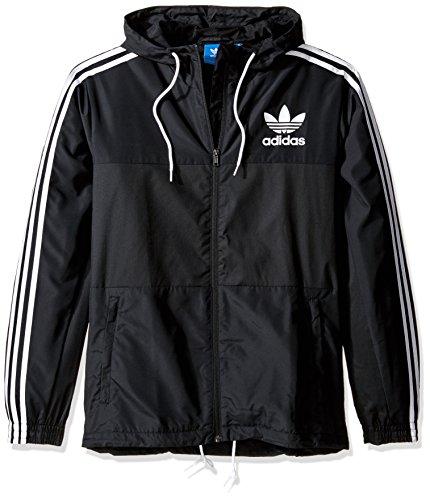 adidas Originals Men's California Windbreaker, Black, X-Large