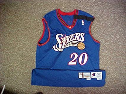 cffa23cfce3 Eric Snow Philadelphia 76ers Wilt Chamberlain Patch Game Jersey at ...