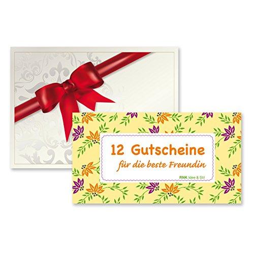 Ausgezeichnet Gutscheinheft 12 Gutscheine für die beste Freundin inkl  VC28