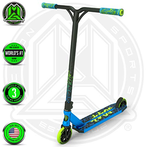 Madd Gear MGP Action Sports Kick KAOS Scooter (Blue/Green 2019) (Best 120mm Fork 2019)