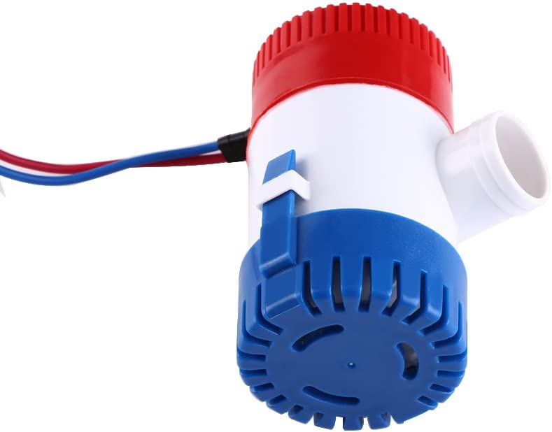 Zerone Bilge Water Pump 12/V Manual Bilge Pump Miniature Full Diving Rust and Moisture 1100/Gallons GPH Bilge Water Pump