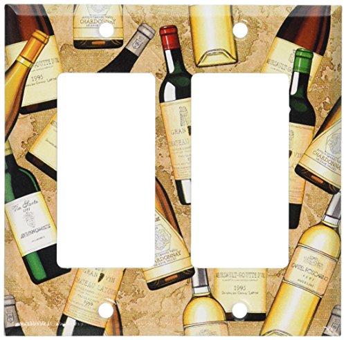 Art Plates - Wine Bottles Switch Plate - Double Rocker