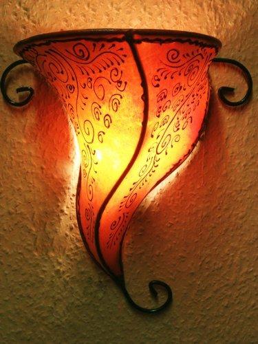 orientalische wandleuchte rahaf orange Marrakesch br-WLL063