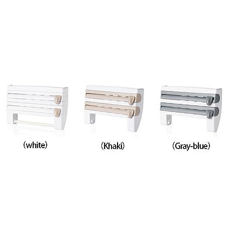 Amazon.com: Yvonne Wall-Mounted Foil, Cling Film Dispenser & Cutter Kitchen Roll Holder Dispenser Paper Towel Holder Storage Rack Kitchen Accessories for ...