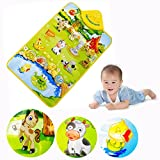 Cisixin Music Sound Farm Animal Kids Baby Play Playing Mat Carpet Play mat Gym Toy, 60cm x 40cm/23.62 x 15.75 inch