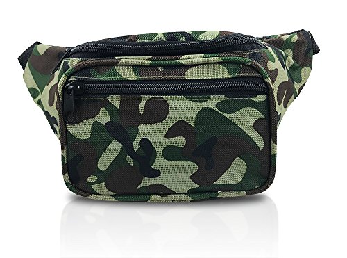 Woodland Camouflage Outdoor Tactical Fanny Pack (Camouflage Woodland) Light Camouflage Makeup