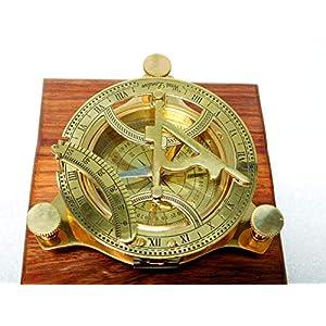 Reloj de sol, brújula de latón para navegación marítima, para los amantes de los barcos