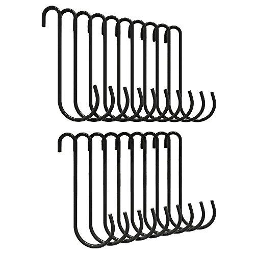 ZESPROKA Kitchen Pot Rack Hooks,20 hooks per set,Black