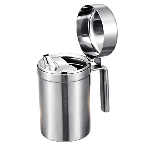 Amazoncom Mylifeunit Stainless Steel Oil Dispenser With Lid 17 Oz
