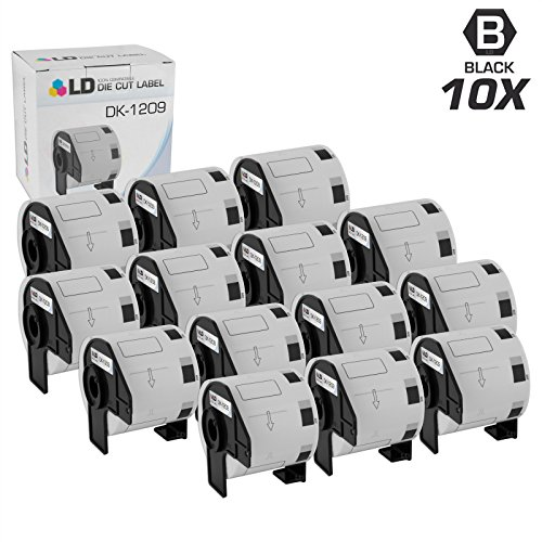 LD © Compatible Brother DK-1209 10 Rolls of Address Labels / 1.1 in x 2.4 in