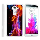 G3 Phone Case, Hard Shield Phone Case Hard Jacket with Unique Designs for LG G3 (D850, D851, D855, VS985, LS990, US990) by MINITURTLE - Purple Red Flames