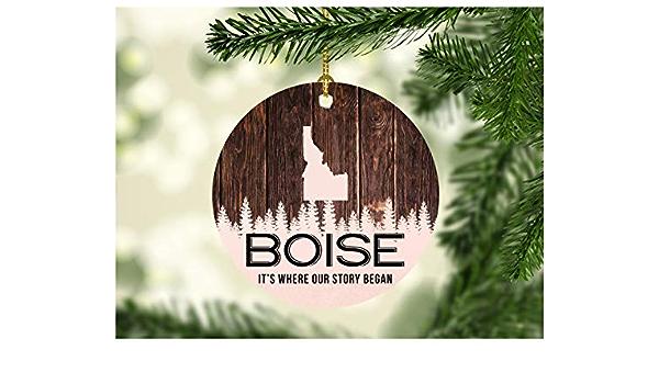 Boise Snowman Christmas OrnamentsIdaho SouvenirChristmas Tree Decorations