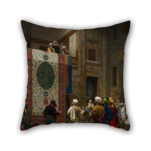 Oil Painting Jean-Léon Gérôme - The Carpet Merchant Cushion Cases 20 X 20 Inches / 50 By 50 Cm For Teens Boys,lounge,dinning Room,divan,kids,her With Both Sides