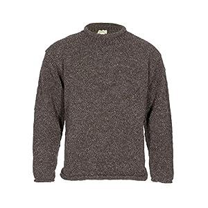 Maglione lavorato a maglia in 100% lana di yak, con collo rotondo