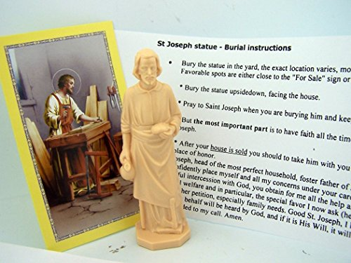 Religious Gifts Saint Joseph Statue Home Seller Kit with Prayer Card and Instructions>