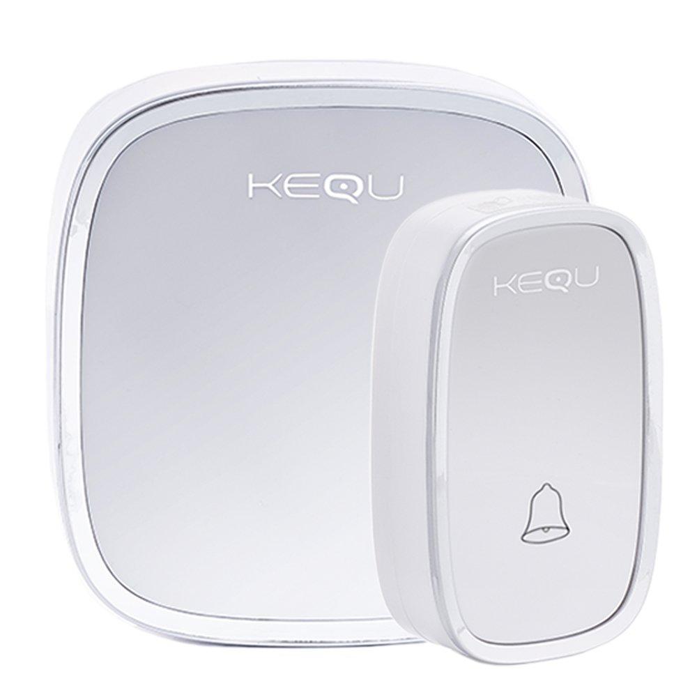 Kequ domestique sans fil Porte Bell 32Digital Chimes–Facile à installer et portable (120m de portée) sans fil Sonnette KEQU WORLD
