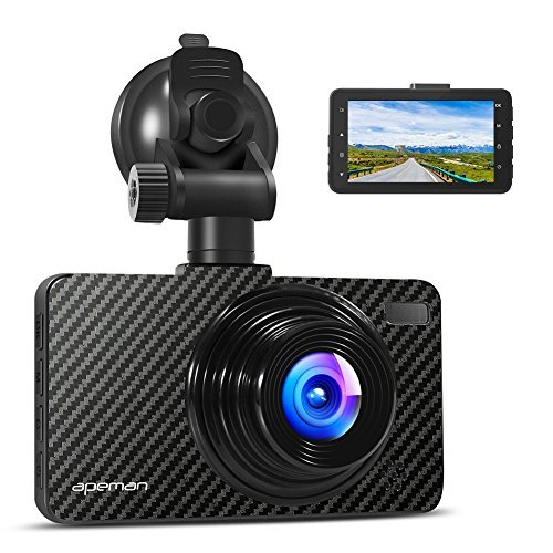APEMAN Dash Cam 1080P FHD 3.0' Screen Car Recorder with 170 Degree Wide Angle, G-sensor, WDR, Loop Recording, Motion...