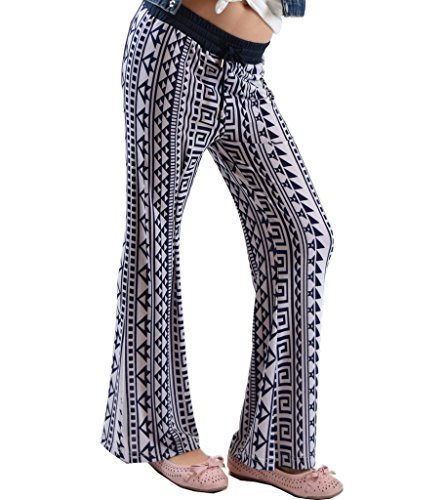 Golden Black Big Girls Printed Jersey Palazzo Pants 186 L